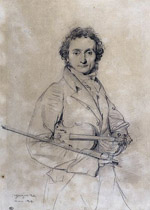 NiccoloPaganini.jpeg  Coal drawing by Jean Auguste Dominique Ingres, c. 1819.