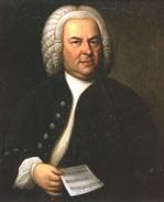 Johann Sebastian Bach (aged 63) on a portrait by Elias Gottlob Haussmann